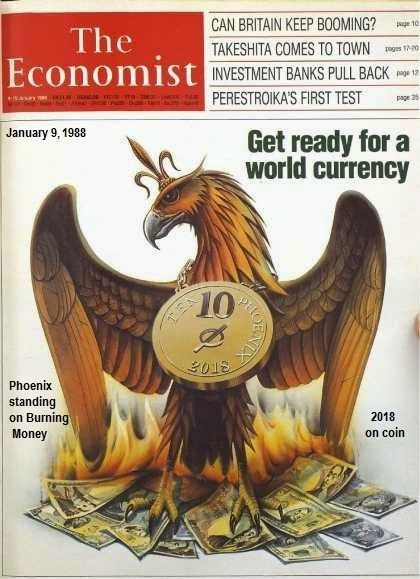 Phoenix Rising from the ashes of a global currency collapse.